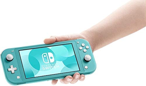 """Newest Nintendo Switch Lite Game Console, 5.5"""" LCD Touchscreen Display, Built-in Plus Control Pad, W/Hesvap 128GB Micro SD Card, Built-in Speakers, 3.5mm Audio Jack (Turquoise Blue)"""