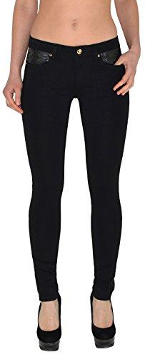 by-tex femmes skinny jeggings slim pour femmes treggins en simili-Cuir Pantalon Femme T05 T07