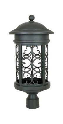 Oil Rubbed Bronze 1 Light 11in. Post Lantern from the Dark Sky Barrington Collection by Designers Fountain