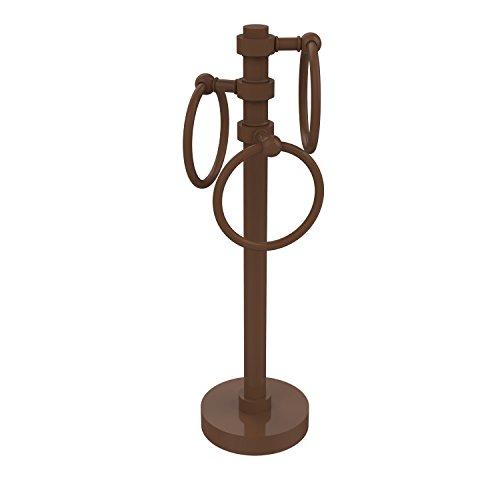 Allied Brass 983-ABZ Vanity Top 3 Ring Guest Towel Holder, Antique Bronze