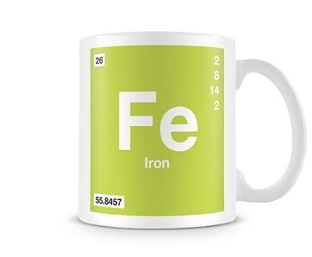 Periodic table of elements 26 fe iron symbol mug amazon periodic table of elements 26 fe iron symbol mug urtaz Images