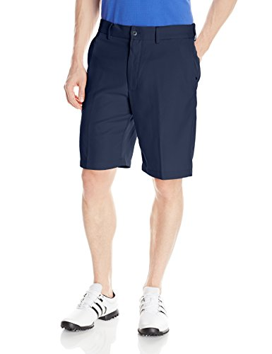 PGA TOUR Men's Expandable Flat Front Short, Black Iris, (Blue Golf Shorts)