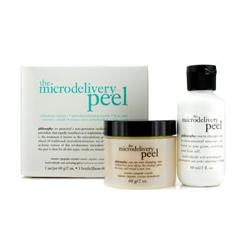 The Microdelivery Peel: Lactic/Salicylic Acid Activting Gel 60ml/2oz + Vitamin C/Peptide Crystals 60g/2oz