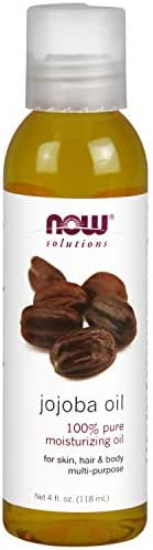 Now Solutions, Jojoba Oil, 100% Pure Moisturizing, Multi-Purpose Oil for Face, Hair and Body, 4 Fl Oz (Pack of 1)