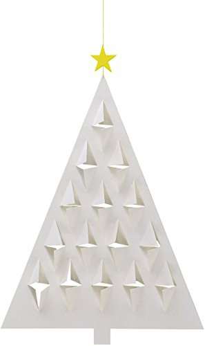 Flensted Mobiles Prism Tree White Hanging Mobile - 11 Inches Cardboard -
