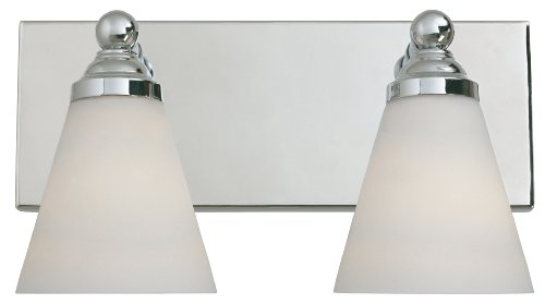 Designers Fountain Bathroom Lighting - Designers Fountain 6492-CH Hudson Vanities, Chrome