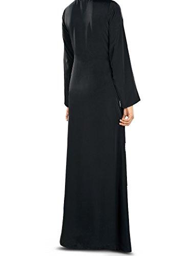 abito MyBatua nero casual islamico Aya formalizzato 327 maxi abito semplice Abito amp; z6X4wxw