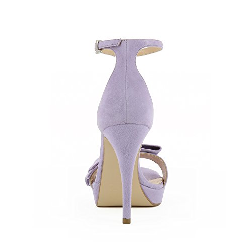 Daim Evita Shoes Femme Sandales Valeria Lilas wIAqIS
