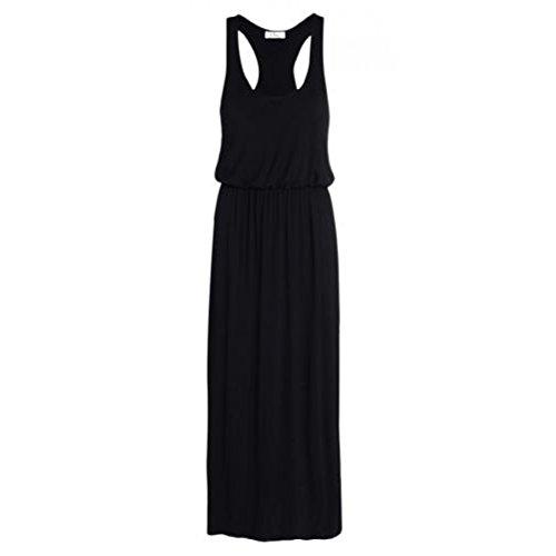 [Ladies Plus Size Balloon Toga Maxi Racer Back Dress US size 14-24 (XXL (US 18-20), Black)] (Black Toga Dress)