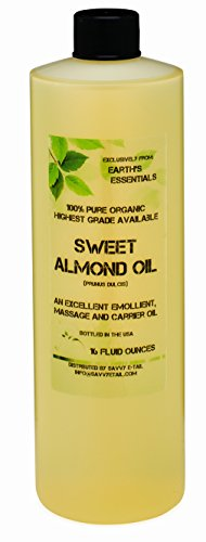 Earth's Essentials 100% Pure Organic Sweet Almond Oil-16 Oz. Bottle