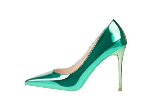 Gripe Oro Con Liangxie Del Un Manera De Club La Nocturno Alto Metálica Zapatos Atractivos Tacón Simple EqqOwZ