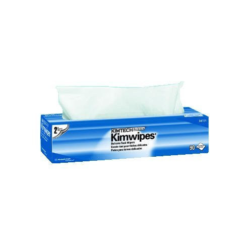 Kimtech 34721 KIMWIPES Delicate Task Wipers, 2-Ply, 14 7/10 x 16 3/5, 90/Box, 15 Boxes/Carton