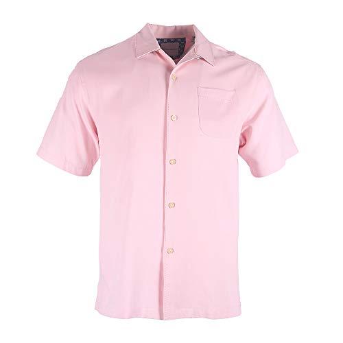 Havana Breeze Men's 100% Silk Relaxed-Fit Camp Shirt ()