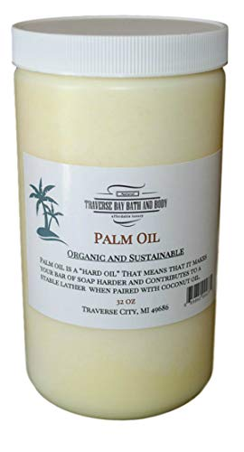 (Palm Oil, Soap Making Supplies. Organic, Sustainable 32 fl oz. DIY Projects.)