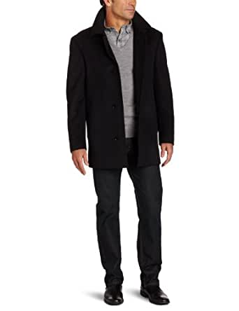 Calvin Klein Men's Slim Fit Coat, Black, 48 Long