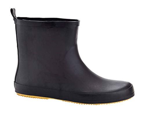 (Solo Mens Ever Dry Low Cut Rubber Water Resistant Rain Boot Black 11)