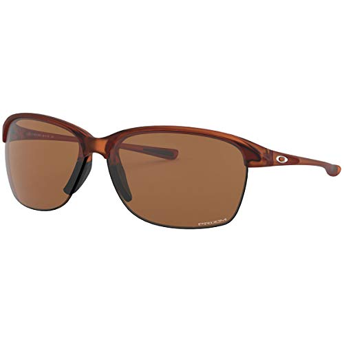 (Oakley Women's Unstoppable Rectangular Sunglasses, Rose Gold Fade, 65.400000000000006)
