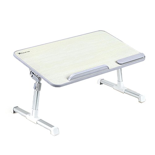 Tables [Large Size] Adjustable Laptop Bed Table, Portable Standing Desk, Foldable Sofa Breakfast Tray, Notebook Stand Reading Holder For Couch Floor (humanized File,Free Lift,USB Fan) (Color : A) by PM Folding tables
