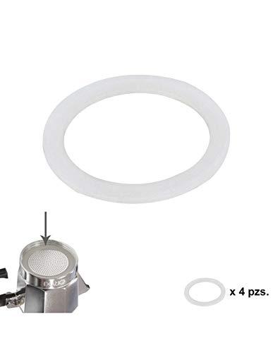 ORYX Junta Goma Silicona Cafetera Aluminio Classic/Inducción 12 Tazas (4 Unidades)