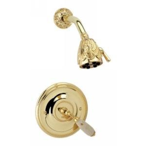 Phylrich PB3338DTO_OEB - Valencia Pressure Balance Shower Set, Trim Only Beige Marble Lever Handles (Valencia Kit Shower)