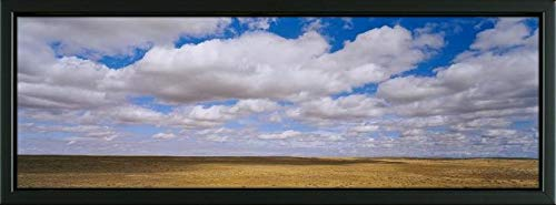 - Easy Art Prints Panoramic Images's 'Clouds Over a Landscape, North Dakota, USA' Premium Framed Canvas Art - 24