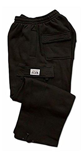 Pro Club Fleece Cargo Sweatpants 13.0oz 60/40 XL Black
