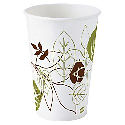 Dixie(R) Paper Cold Cups, 12 Oz., Pathways, Pack Of 50