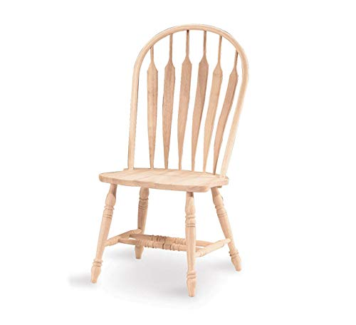 Furniture Windsor Steam Bent Arrow Back Chair, Unfinished Home Office Commerial Heavy Duty Strong Décor