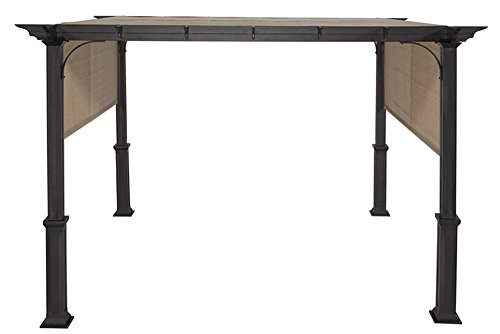The Outdoor Patio Store Replacement Canopy Fabric with Ties for Lowes Garden Treasures 10-Foot Square Pergola with Canopy S-J-110, 0015795