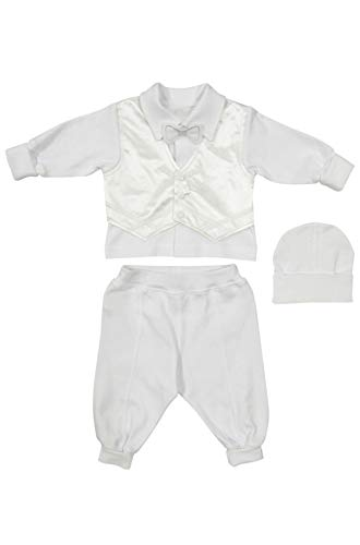 Richelieur Baby Boys Baptism Christening Suit Outfit Long Sleeves 3 Pcs. Tuxedo 100% Cotton (68(6-9 -