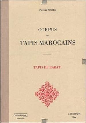 Buy Corpus Des Tapis Marocains Les Livres D Art Book