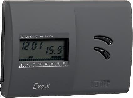 VEMER vn136800 cronotermostato EVO.X Negro De Pared con programación Semanal