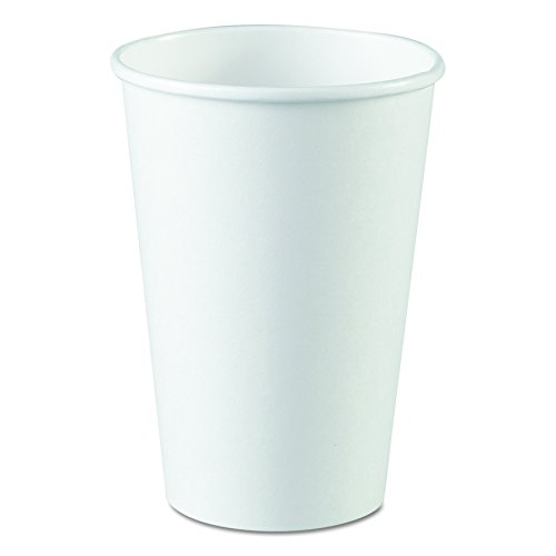 Dixie 2346W Paper Hot Cup, 16 oz, White (Case of 20 Packs, 50 cups per pack) -