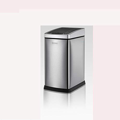 JDkeji Intelligent Sensor Trash Can, Home Living Room Bedroom Toilet Change Bag with Lid Automatic Kitchen Smart Bathroom (Size : 6L) ()