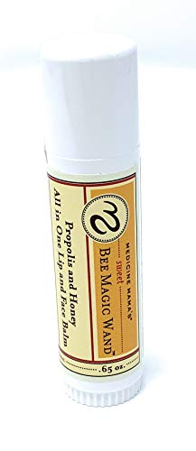 Medicine Mama's Apothecary Sweet Bee Magic Wand, All In One Lip and Face Balm.5 Ounce (Blessed Bee Sweet Magic)