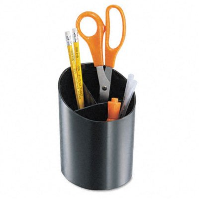 Universal - Recycled Big Pencil Cup, Plastic, 4 1/4 dia. x 5 3/4, Black - Pack of 30