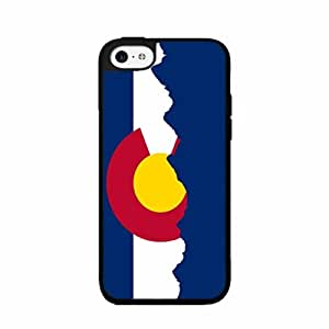 Colorado Flag with Skyline - 2-piece Dual Layer High Impact Phone Case Back Cover (iPhone 4/4s)
