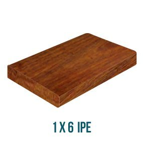 "Everlasting Hardwoods 1"" x 6"" x 8' Ipé Hardwood Decking"
