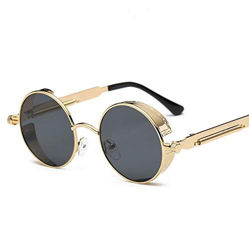 720bc73849e65 YaMiFan Metal Round Steampunk Sunglasses Women Fashion Glasses Designer  Retro Frame Vintage Sunglasses Gold Gray