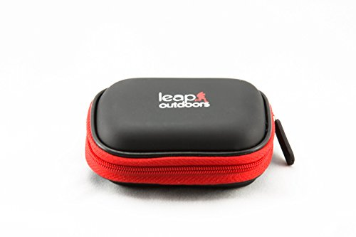 Leap Outdoors Weather-Resistant Protective SD SDHC Memory Card Storage Carrying Case for Photography and Trail Camera Card Reader and 12 SD Cards with Mesh Pocket