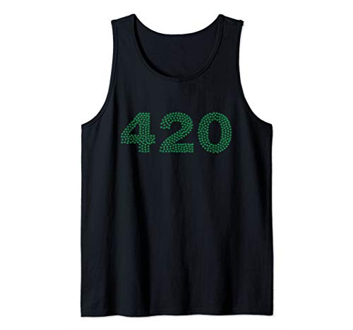 420 Written with Pot Leaves Top for Mary Jane Lovers Tank Top - Jane Pot Leaf Mary