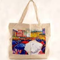 Market Canvas Tote Bag With Copyrighted Seattle Magnet ()