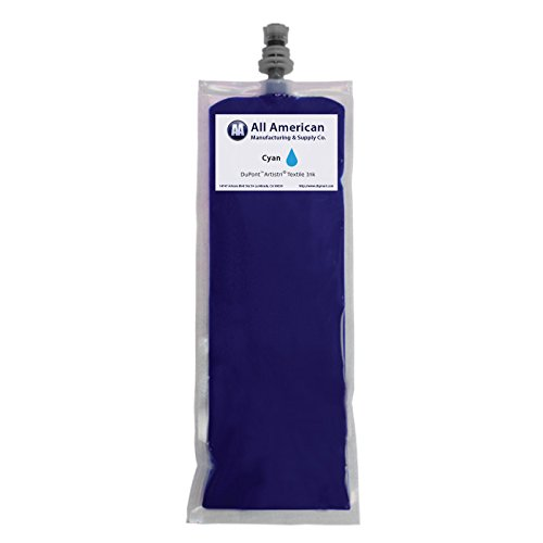 DTG Ink 220ml Dupont Textile Ink for Direct to Garment Printer Best Price Guaranteed (Cyan) ()
