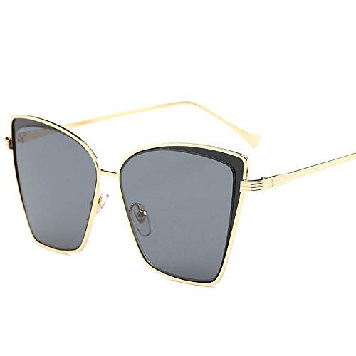 De De Gafas JOGJSF Clásica Personalidad Gold Gafas Las Creativas De framedBlack Moda De De Nueva La gray gray La Tendencia Las framedblack Sol Gold Sol Popular rqqW87fHw