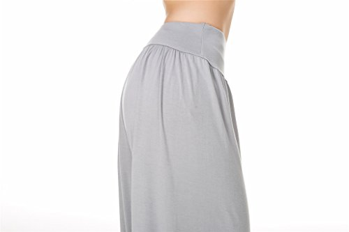 morbido donna Fit Modal Spandex Yoga SIMYJOY per Leggings o Pantaloni Grey Lunghi Pilates Light da Loose e wHqpWxTCf