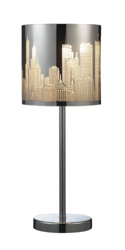 Dimond 31036/1 Skyline 1-Light Portable Lamp In Polished Stainless Steel