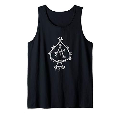Ace of Spades-Crossed Bones-Gambling-Death Card Tank Top