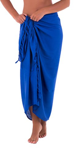 Shu-Shi Womens Beach Cover Up Sarong Swimsuit Beach Cover-Up In Many Solids Colors to choose