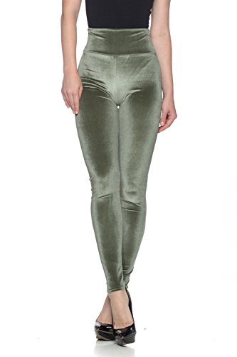 Women's J2 Love Velvet High Waist Leggings, X-Small, Plush Olive - Plush Olive