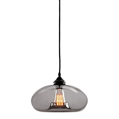 Greenwood Single Bulb Glass Pendant with Vintage Filament Bulb Included